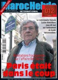 Révélations fracassantes sur l'affaire Ben Barka - Maroc Hebdo ...
