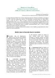 Belfort et la famille Bloch, lettre de Raymond à ... - Mission TICE