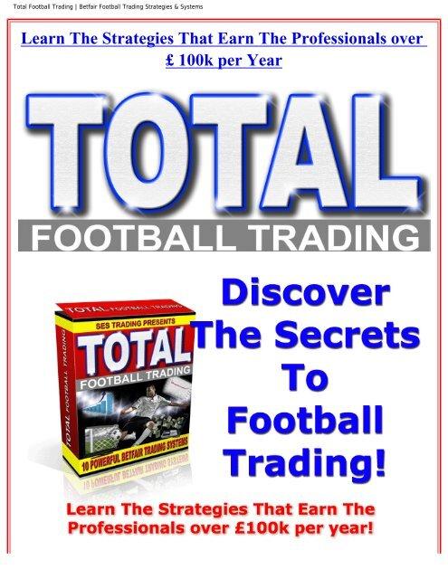 Total Football Trading | Betfair Football Trading