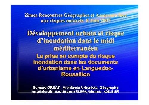 Développement urbain et risque d'inondation dans le ... - Cyberato
