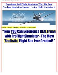 The Most Realistic Airplane Flight Simulator ... - Bestcbstore.com