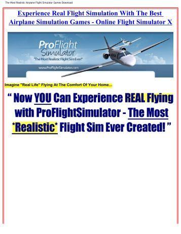 The Most Realistic Airplane Flight Simulator ... - Bestcbstore.com
