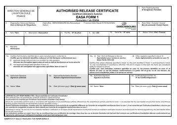 EASA Form 117 - SIB Template