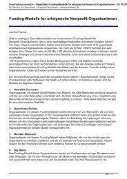 Newsletter Funding-Modelle für erfolgreiche Nonprofit ... - Spendwerk