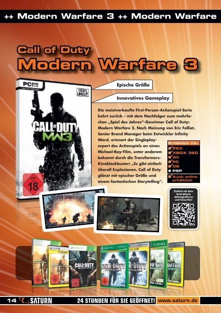 Call of Duty Modern Warfare 3 - Saturn