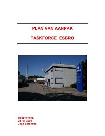 Bijlage 1 PLan van Aanpak Taskforce Esbro - Bestuurlijke informatie ...