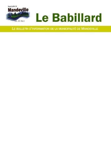 Babillard printemps 2013 - Municipalité de Mandeville