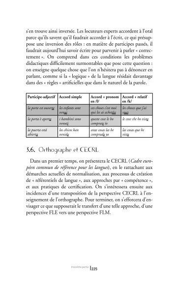 3.6. Orthographe et CECRL