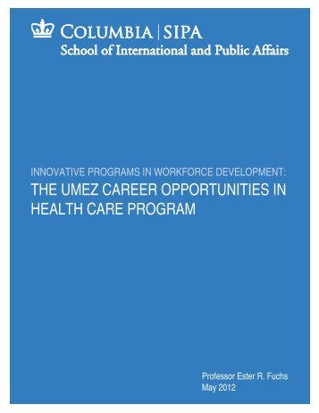 the umez career opportunities in health care program - Asoundstrategy