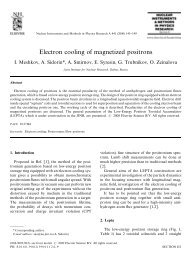 Electron cooling of magnetized positrons - BETACOOL home page ...