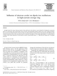 Zenkevich, P.R. and A.E. Bolshakov, In#uence of electron cooler on ...