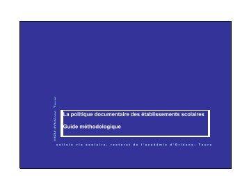 La politique documentaire des établissements scolaires - IUFM