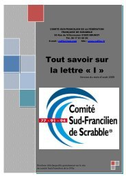 lettre - Comité Sud Francilien de la Fédération Française de Scrabble