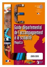 Guide accompagnement à la scolarite - Vice-Rectorat de Mayotte