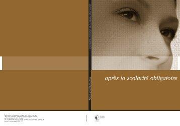 """Brochure """"après la scolarité obligatoire"""" - Etat de Genève"""
