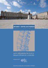 Scoliose - Groupe d'Etude des Scolioses