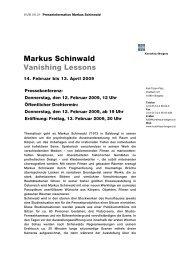 Markus Schinwald Vanishing Lessons