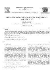 Deceleration and cooling of radioactive isotope beams - BETACOOL ...