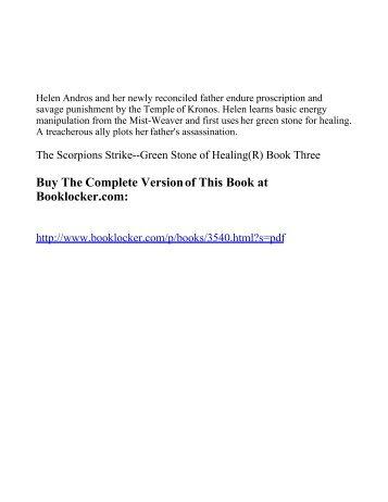 The Scorpions Strike--Green Stone of Healing(R ... - The Book Locker