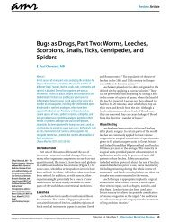 Bugs as Drugs, Part Two: Worms, Leeches, Scorpions, Snails, Ticks ...