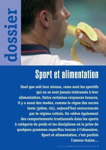 Dossier : Sport et alimentation - USEP 31