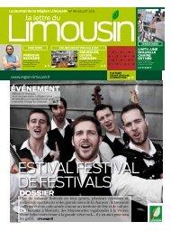 Le journal de la Région Limousin - juillet 2012.