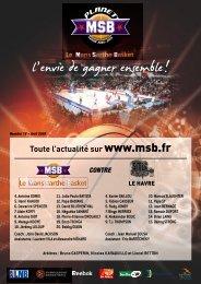 Programme de match MSB - Le Havre