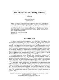 The HESR Electron Cooling Proposal - BETACOOL home page