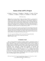 Status of the LEPTA Project - BETACOOL home page