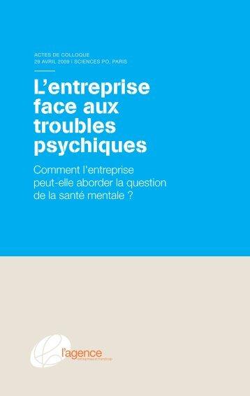 L'entreprise face aux troubles psychiques - Fondation de France