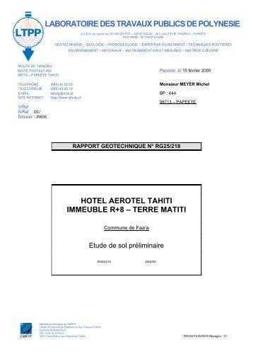 LABORATOIRE DES TRAVAUX PUBLICS DE POLYNESIE