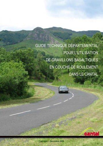 Guide basalte - Conseil Général du Cantal