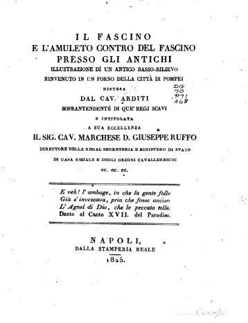 Il fascino e l'amuleto control del fascino presso gli antichi