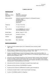 info - Schweizerische Gesellschaft für Orthopädie und Traumatologie