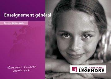Scolarité par correspondance des Cours Legendre - enseignement ...