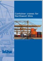 Container cranes for Northwest Ohio