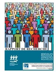 Rapport de recherche, bénévolats nouveaux, approches nouvelles