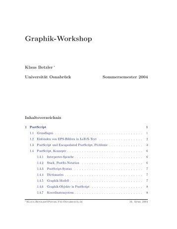 Skriptum zur Vorlesung (PDF) - Klaus Betzler - Universität Osnabrück