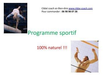 Programme sportif - Aloe vera