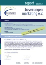 Newsletter 2012 - Beverungen Marketing eV