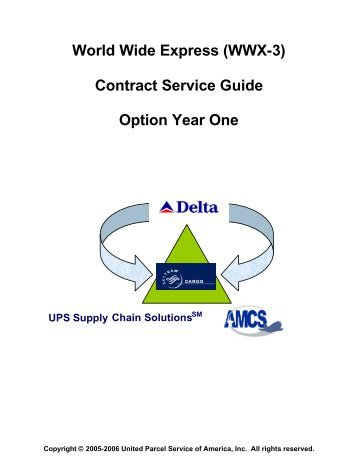 Shipper's Letter of Instruction (SLI) - UPS Supply Chain Solutions