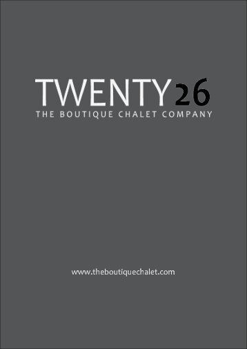 Chalet Twenty26 Brochure