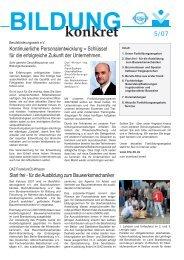 konkret - Berufsförderungswerk e.V. des Bauindustrieverbandes Berlin