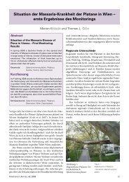 Situation der Massaria-Krankheit der Platane in Wien ? erste ... - BFW