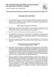 Déclaration de Montreux - Organisation internationale de la ...