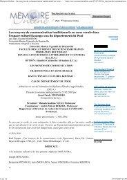 Memoire Online - Les moyens de communication traditionnels en ...