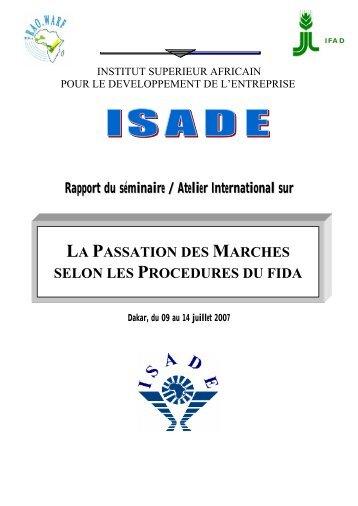 Rapport du séminaire / Atelier International sur LA ... - FIDAfrique