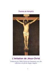 L'Imitation de Jésus-Christ - Abbaye Saint Benoît de Port-Valais