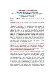 L alliance du mariag.. - Message-Doctrine