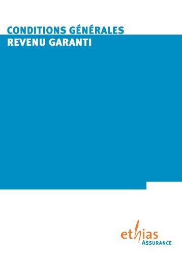 CONDITIONS GÉNÉRALES REVENU GARANTI - Ethias